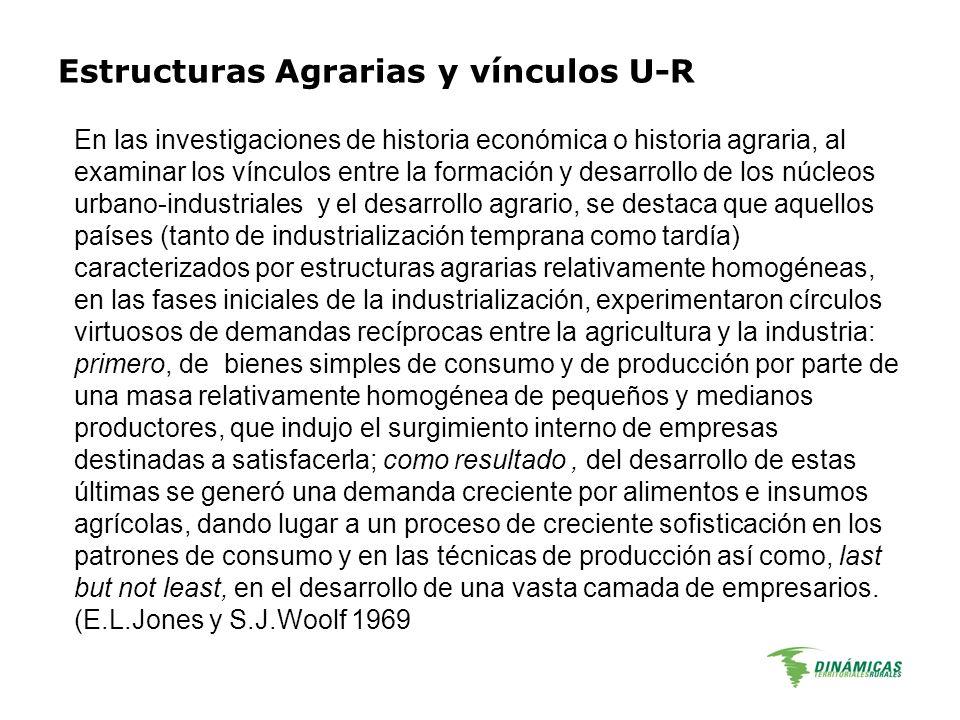 Estructuras Agrarias y vínculos U-R
