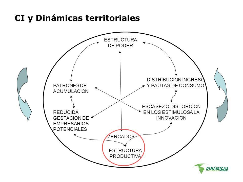 CI y Dinámicas territoriales