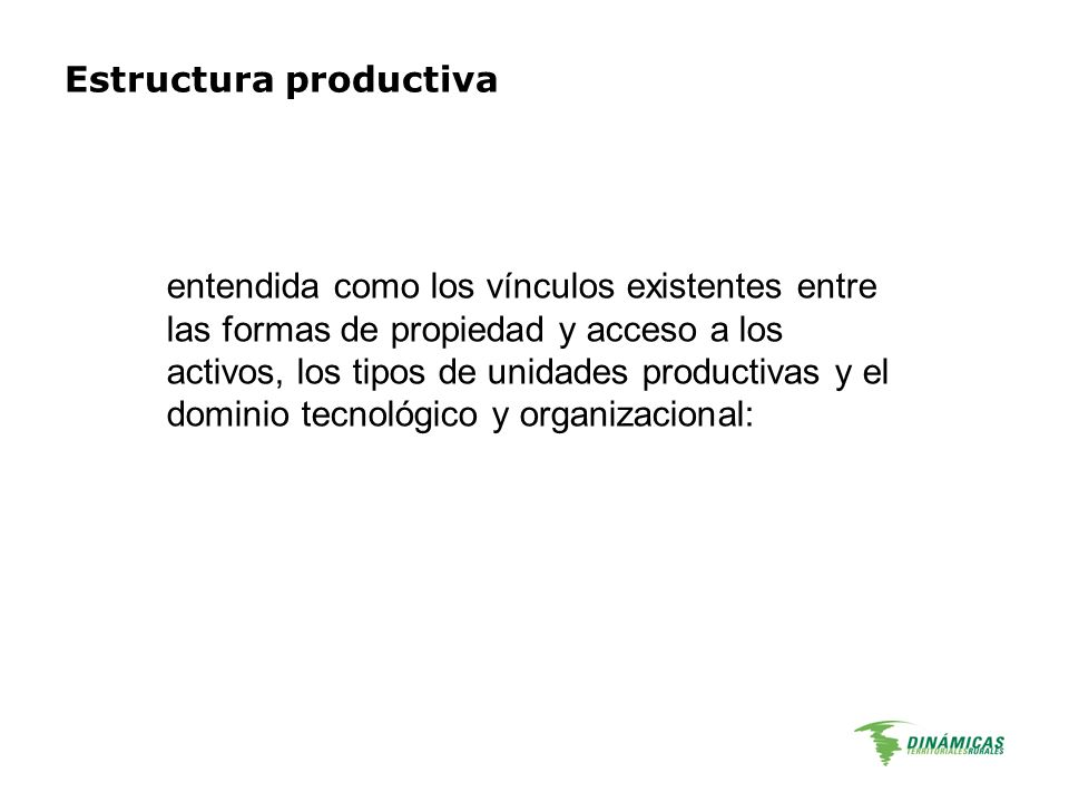 Estructura productiva