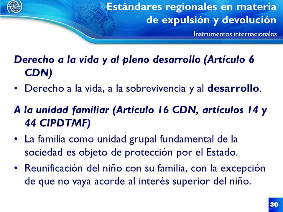 Derecho a la vida y al pleno desarrollo (Artículo 6 CDN)
