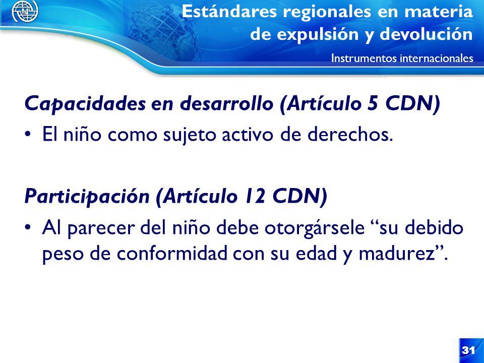 Capacidades en desarrollo (Artículo 5 CDN)