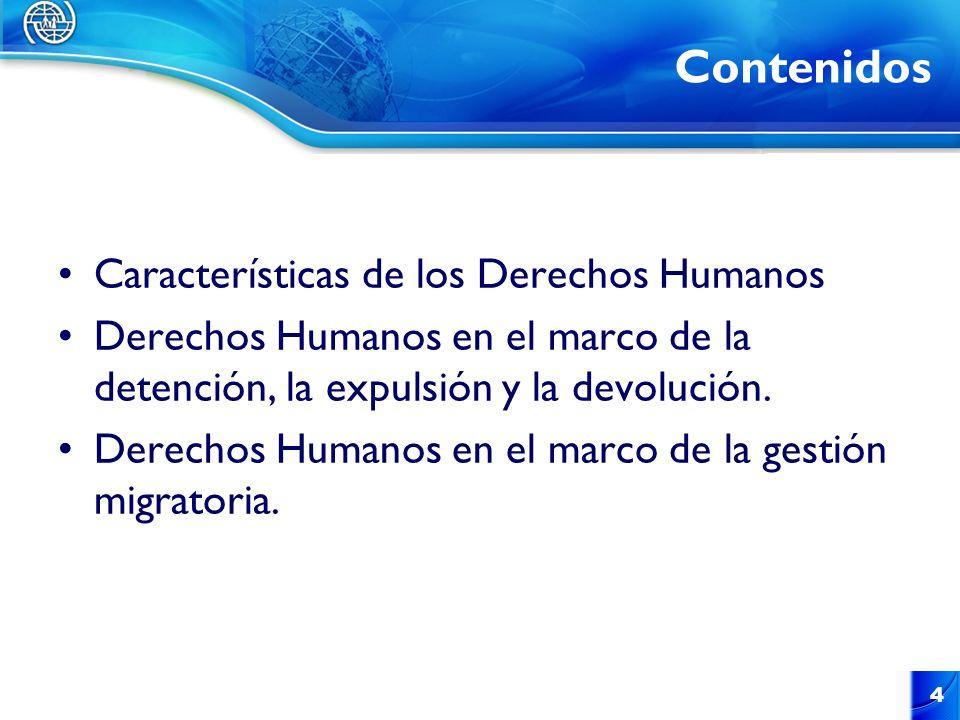 Contenidos Características de los Derechos Humanos