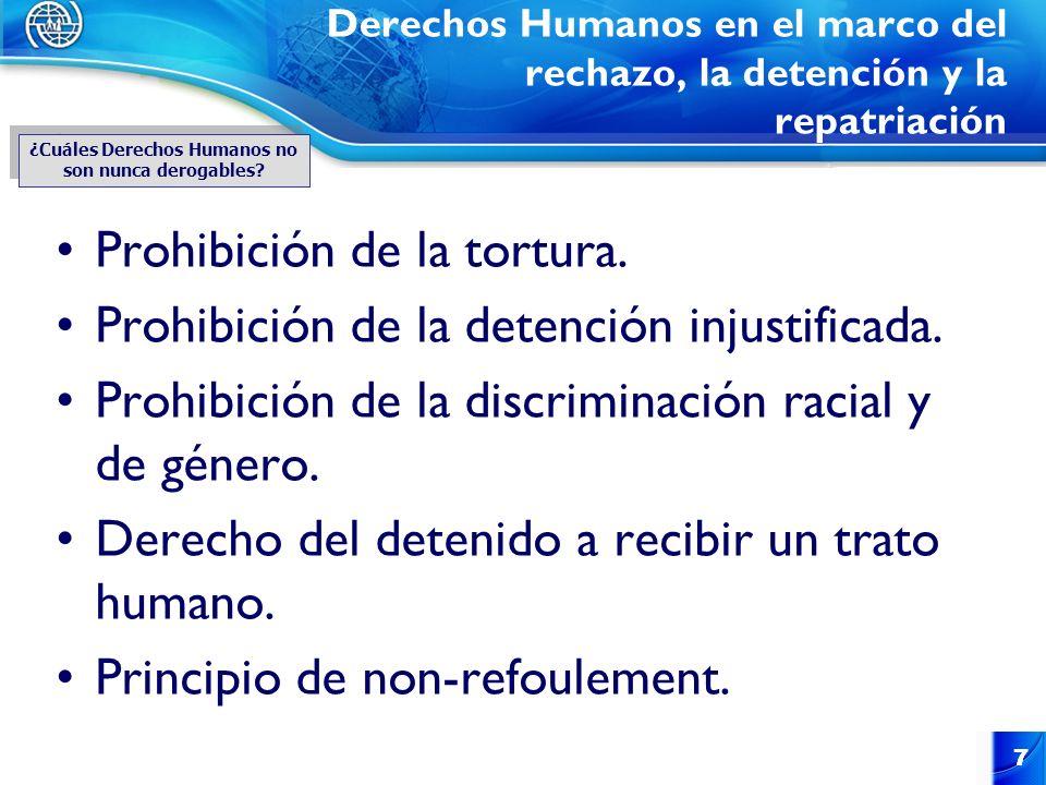 ¿Cuáles Derechos Humanos no son nunca derogables