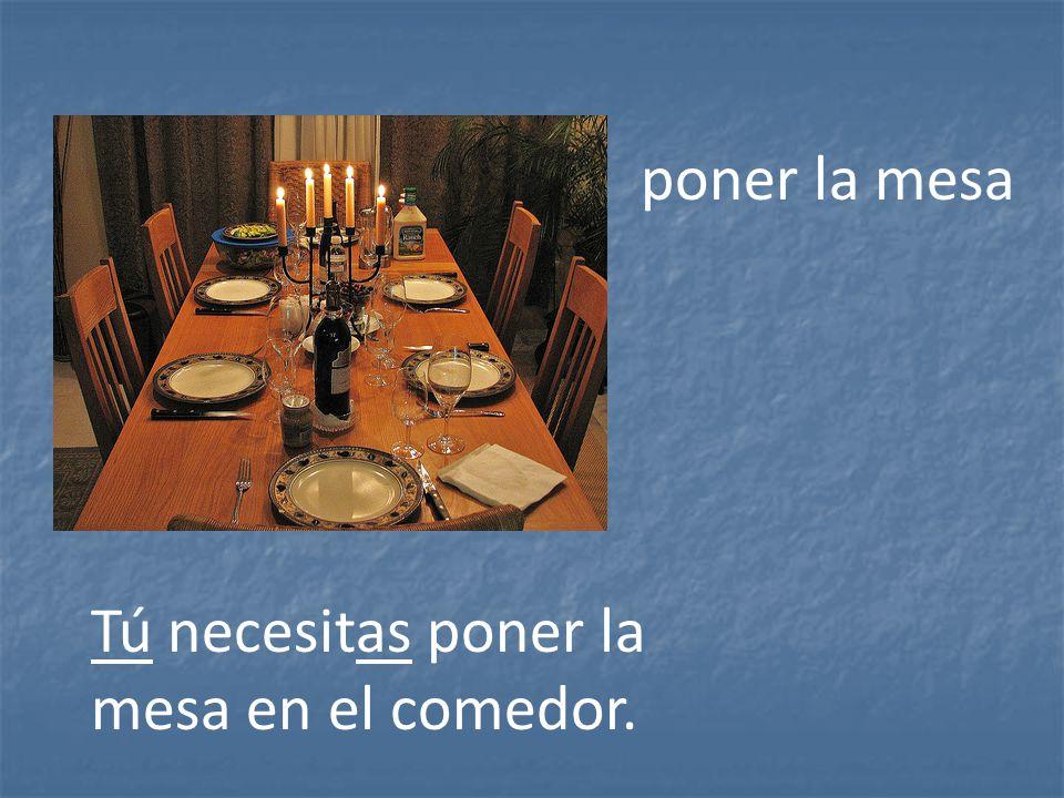 Los quehaceres ppt descargar - Que poner encima mesa comedor ...