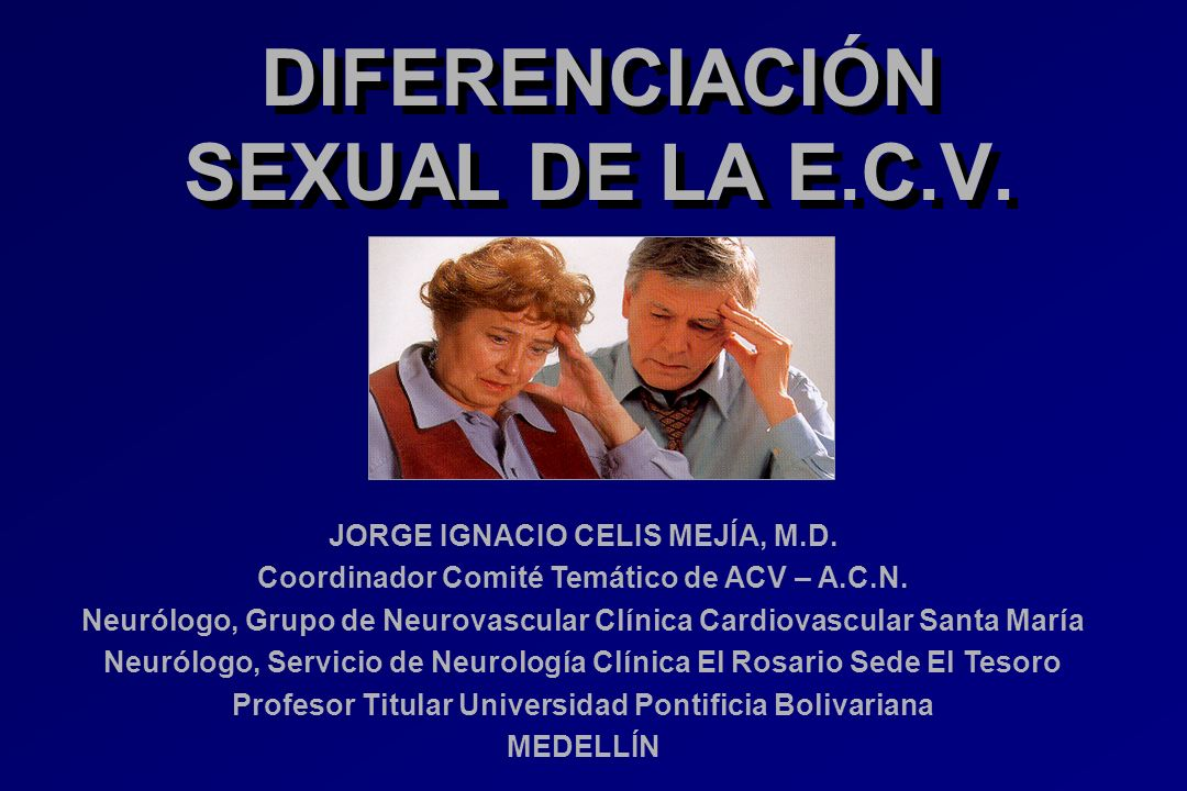 DIFERENCIACIÓN SEXUAL DE LA E.C.V.