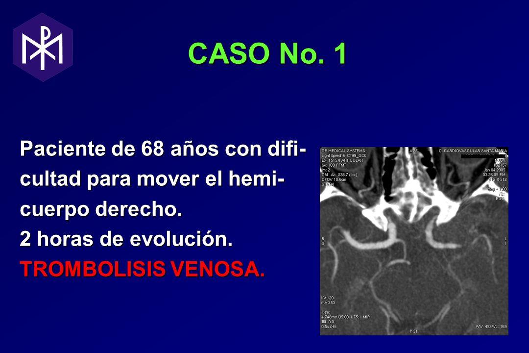 CASO No. 1 Paciente de 68 años con difi- cultad para mover el hemi-