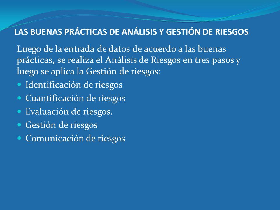 LAS BUENAS PRÁCTICAS DE ANÁLISIS Y GESTIÓN DE RIESGOS