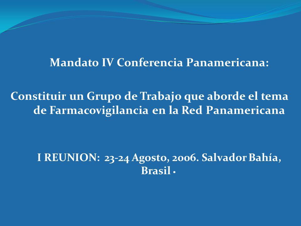 Mandato IV Conferencia Panamericana: