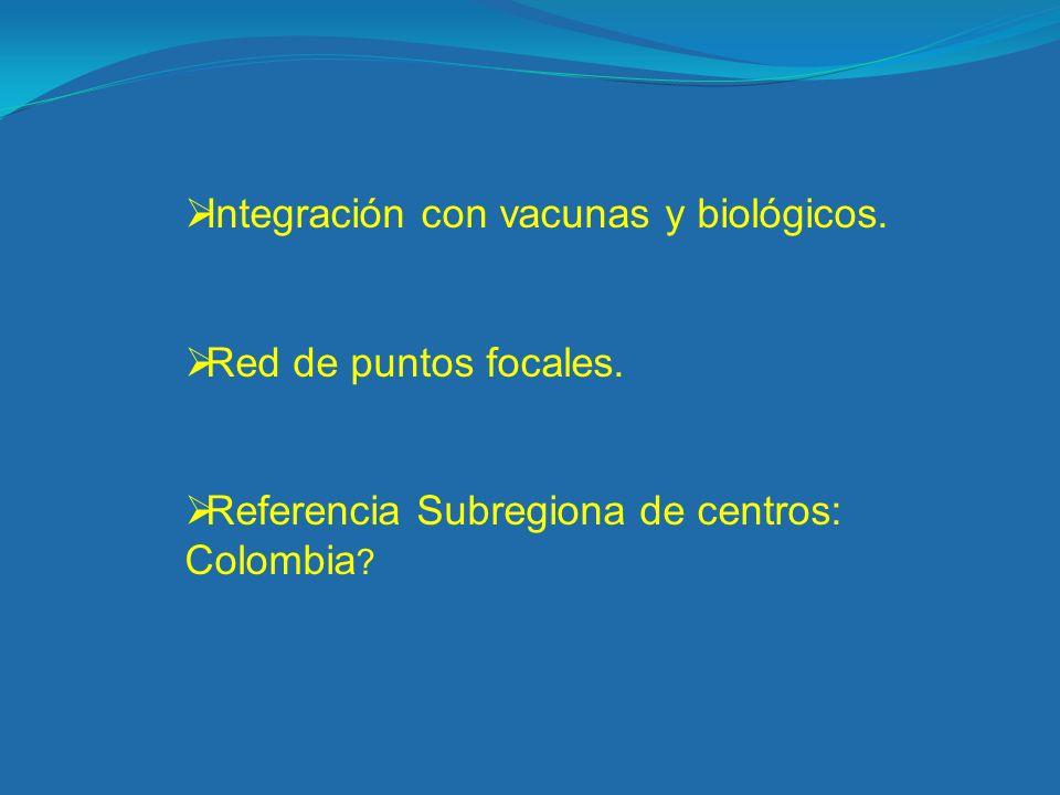 Integración con vacunas y biológicos.