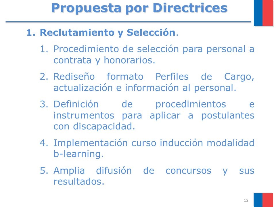 Propuesta por Directrices