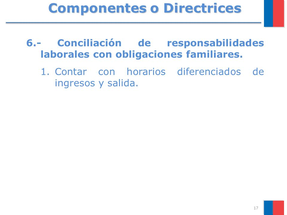 Componentes o Directrices