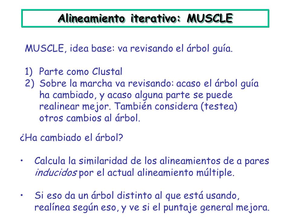 Alineamiento iterativo: MUSCLE