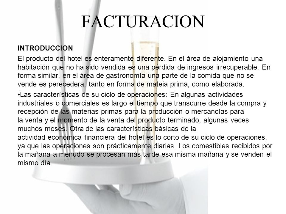 FACTURACION INTRODUCCION