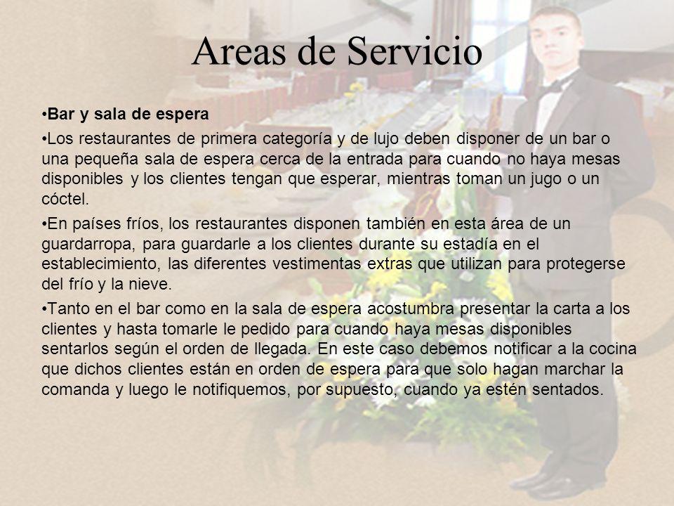 Areas de Servicio Bar y sala de espera