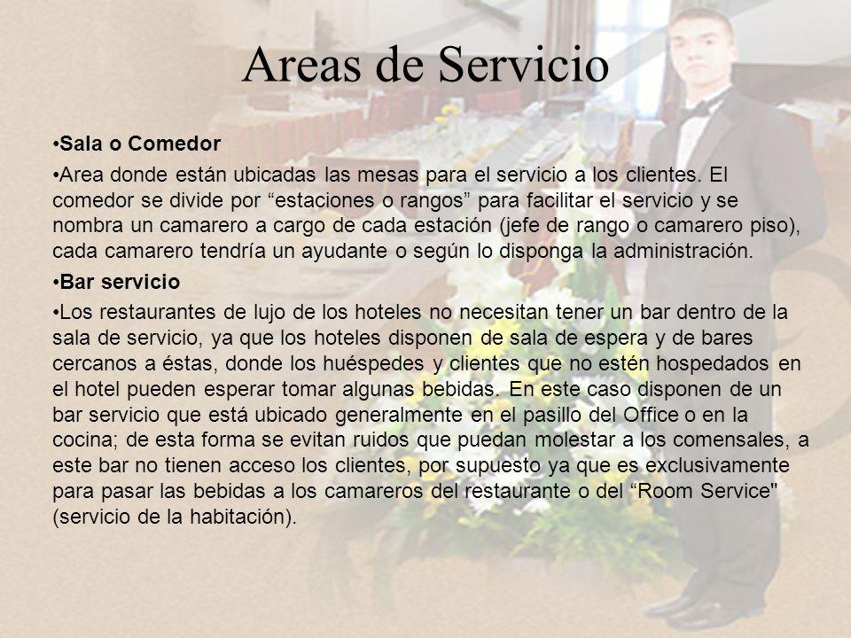 Areas de Servicio Sala o Comedor