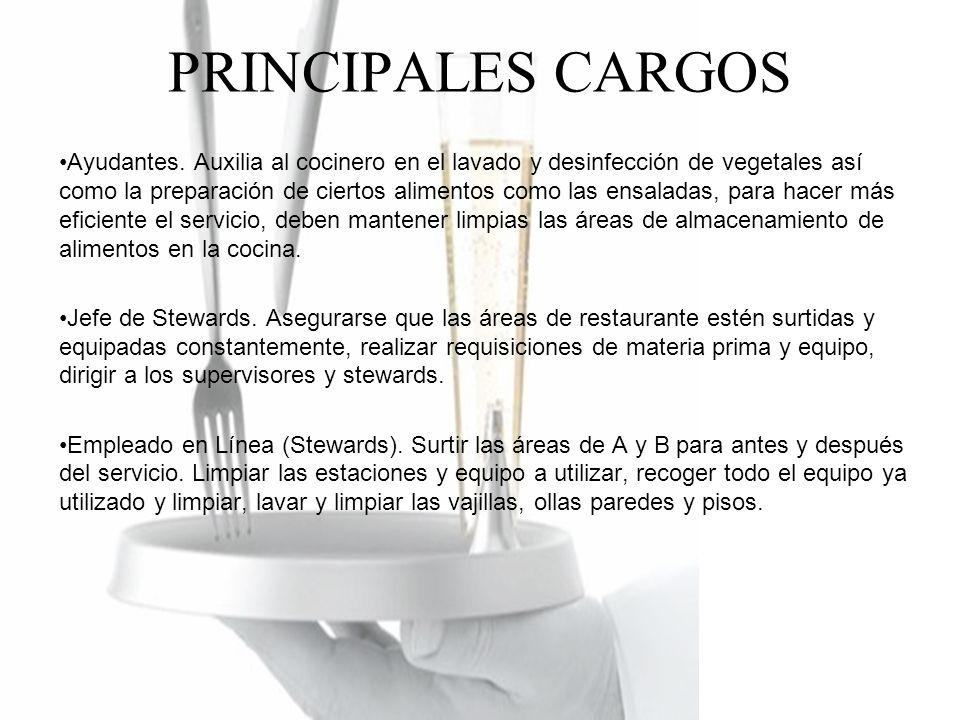 PRINCIPALES CARGOS