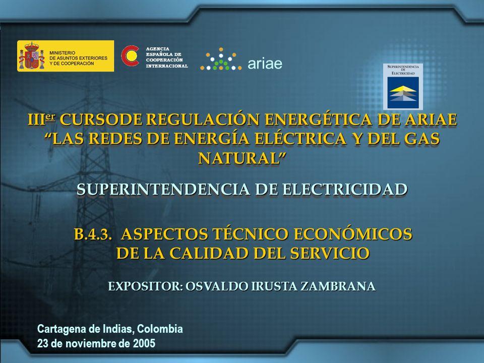 IIIer CURSODE REGULACIÓN ENERGÉTICA DE ARIAE
