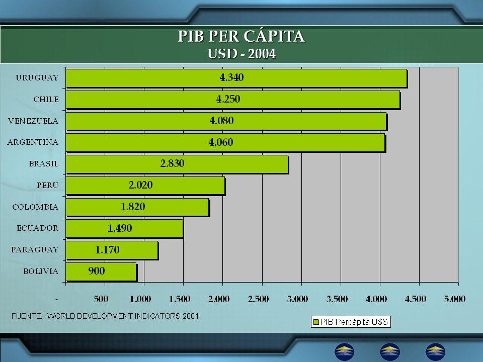 PIB PER CÁPITAUSD - 2004.1.