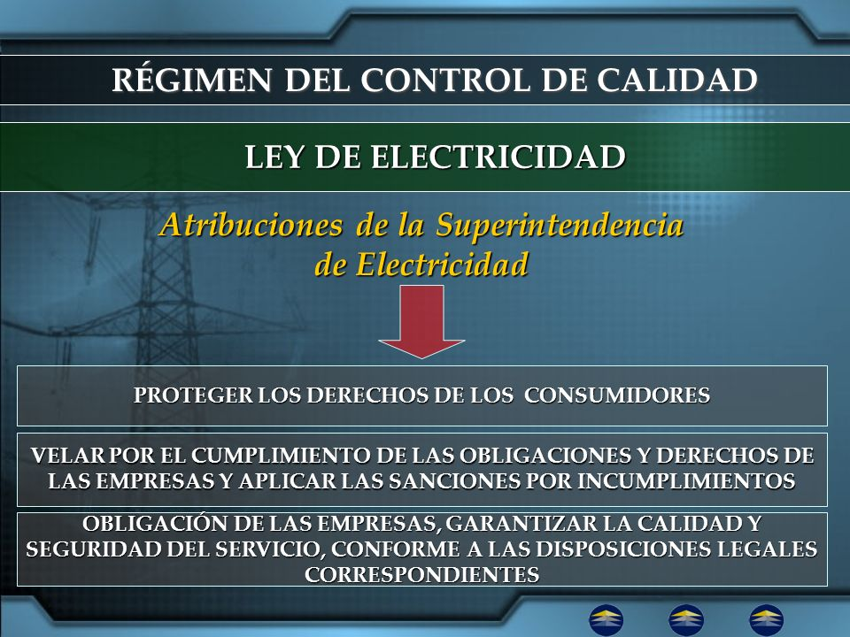 RÉGIMEN DEL CONTROL DE CALIDAD