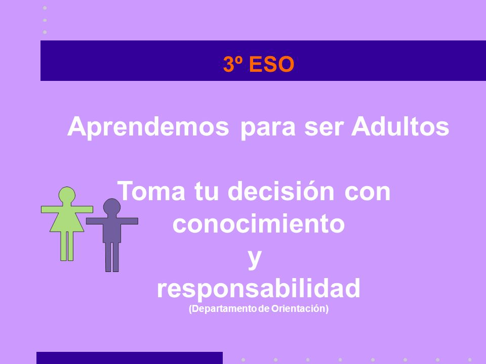 Aprendemos para ser Adultos (Departamento de Orientación)