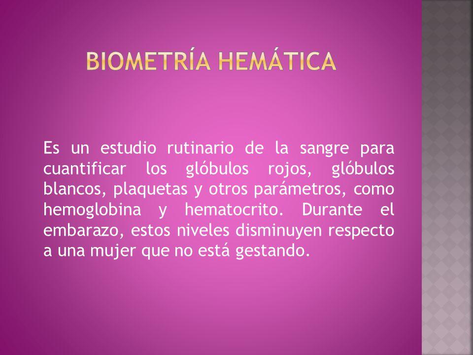 Biometría Hemática en Mujeres Embarazadas (1er y 2do