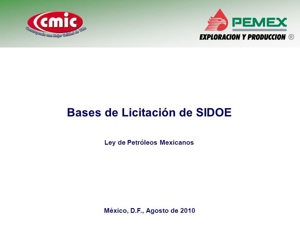 Bases de Licitación de SIDOE Ley de Petróleos Mexicanos