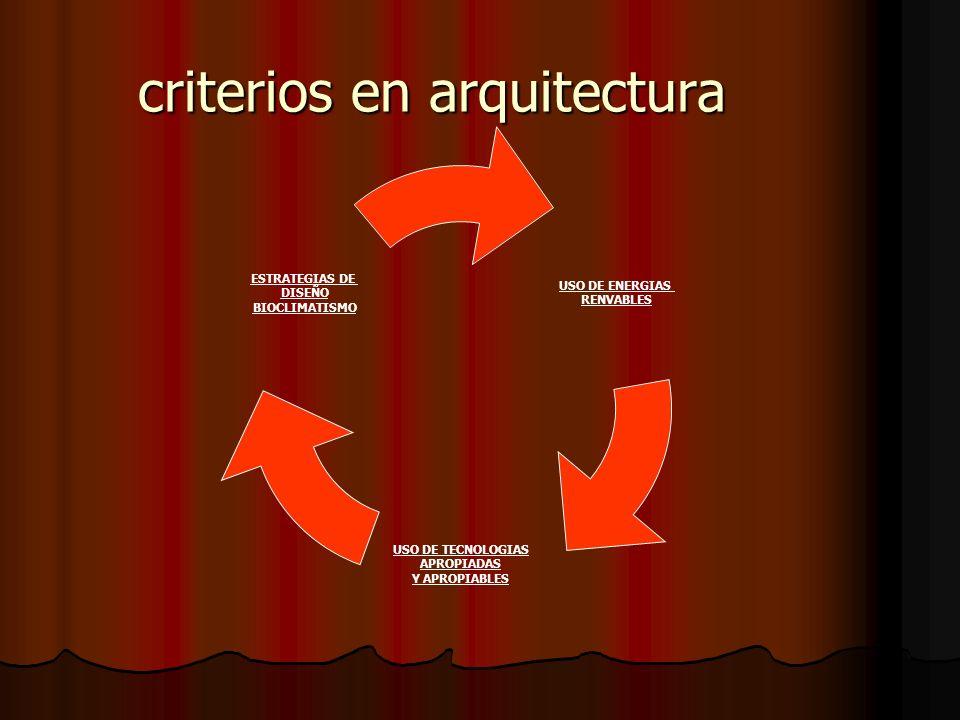 criterios en arquitectura