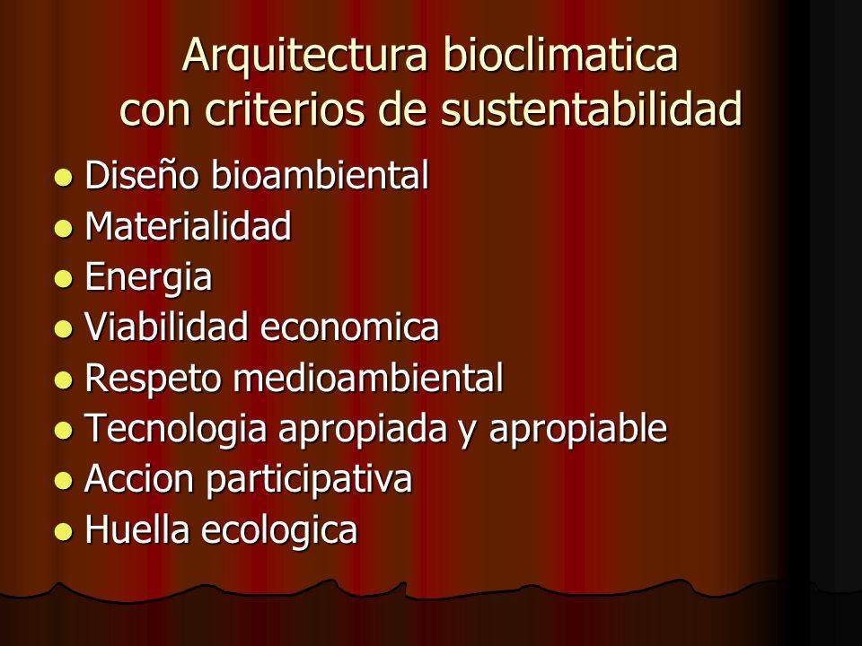 Arquitectura bioclimatica con criterios de sustentabilidad