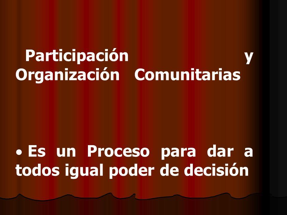 Participación y Organización Comunitarias