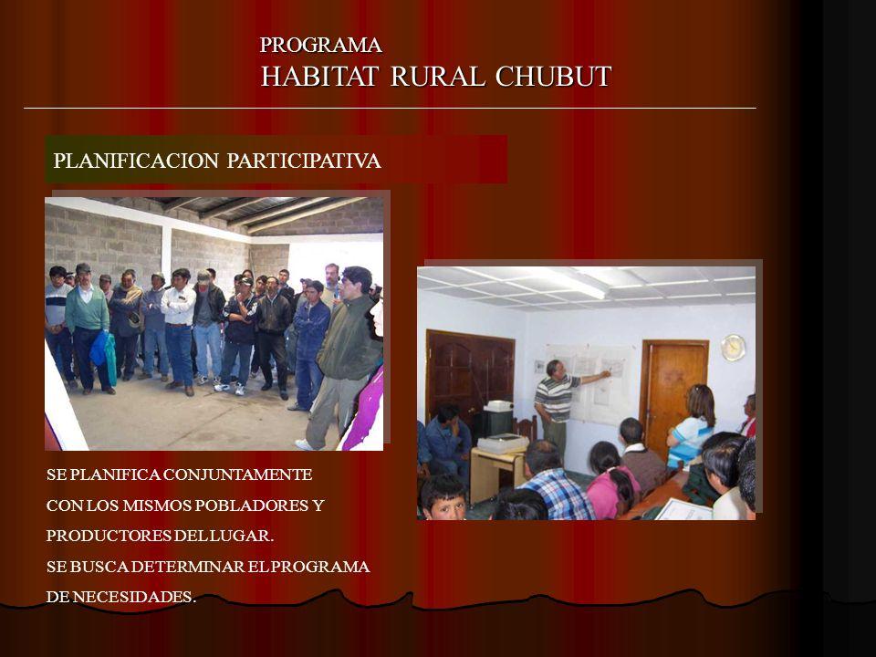 HABITAT RURAL CHUBUT PROGRAMA PLANIFICACION PARTICIPATIVA