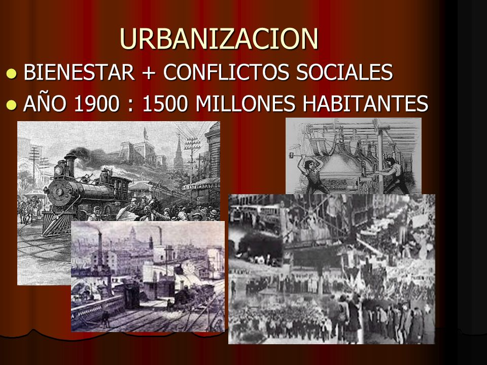 URBANIZACION BIENESTAR + CONFLICTOS SOCIALES