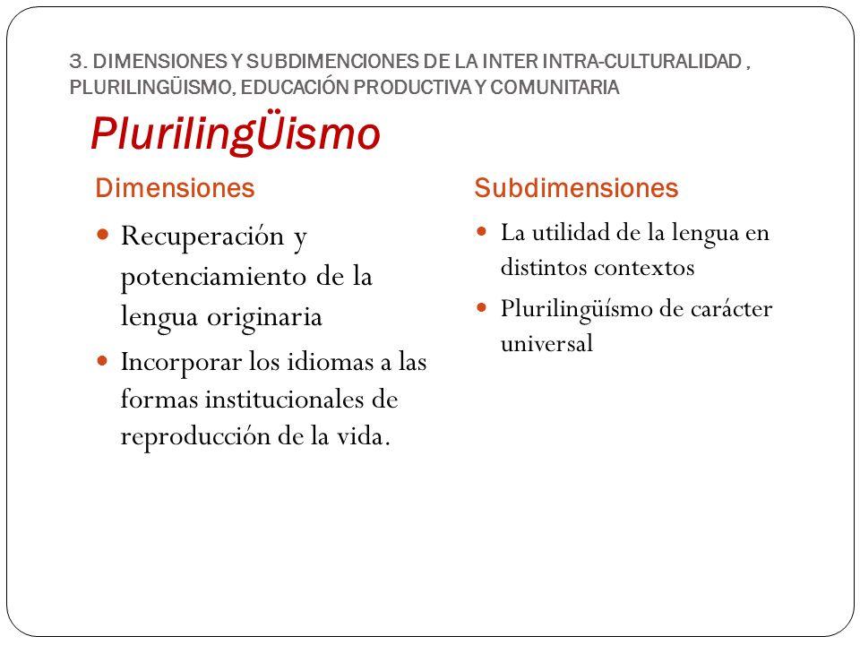 PlurilingÜismo Recuperación y potenciamiento de la lengua originaria