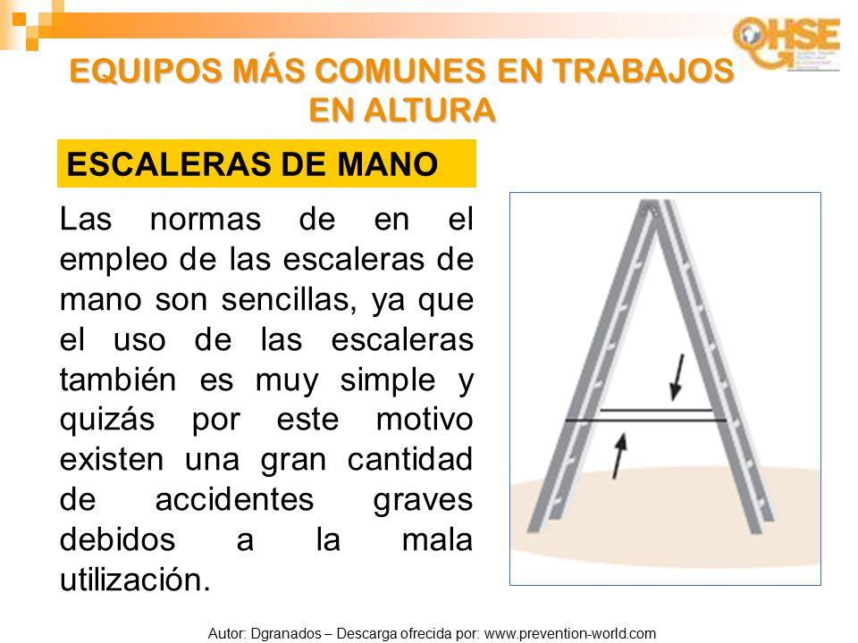Prevenci n de riesgos para trabajos en altura ppt video - Escaleras de trabajo ...