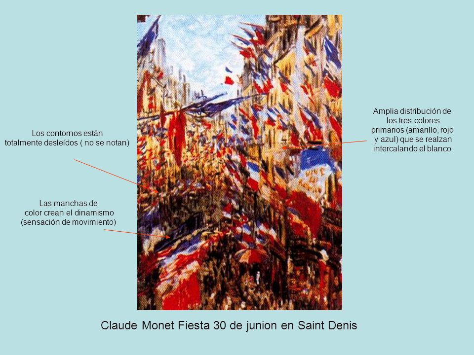 Claude Monet Fiesta 30 de junion en Saint Denis