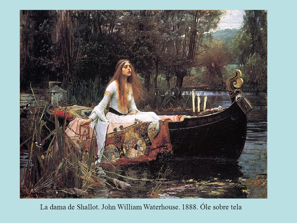 La dama de Shallot. John William Waterhouse Óle sobre tela
