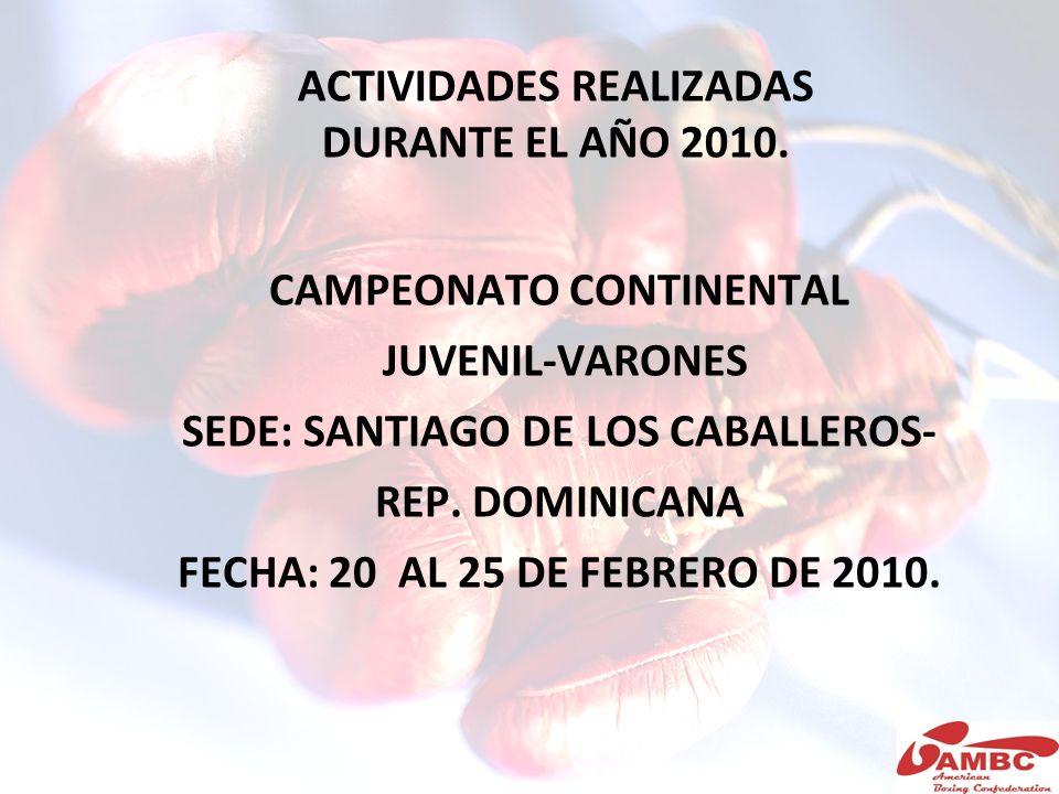 ACTIVIDADES REALIZADAS DURANTE EL AÑO 2010.