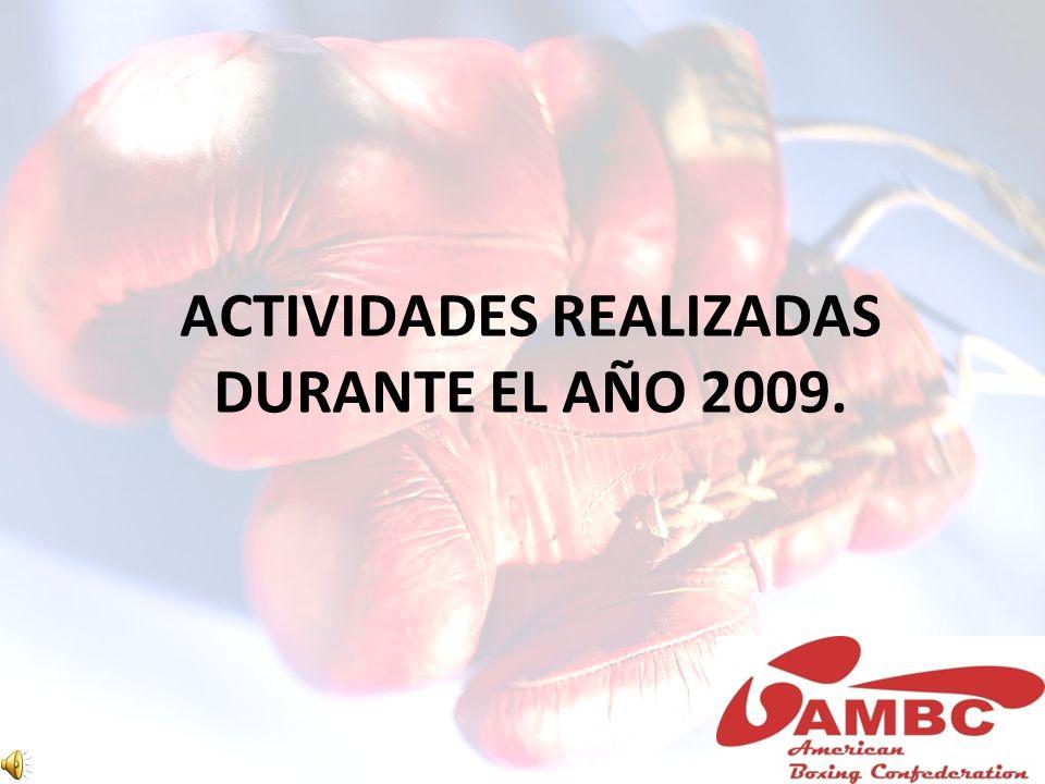 ACTIVIDADES REALIZADAS DURANTE EL AÑO 2009.