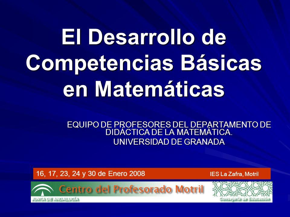 El Desarrollo de Competencias Básicas en Matemáticas