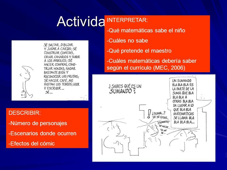 Actividad 1 (Frato) INTERPRETAR: Qué matemáticas sabe el niño