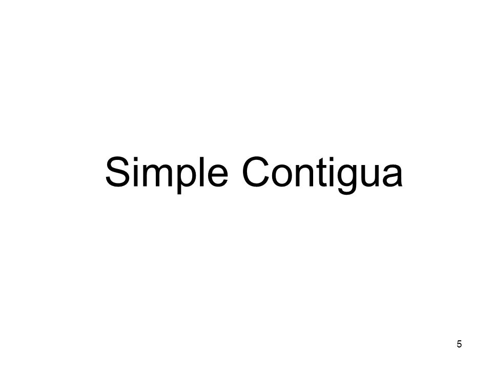 Simple Contigua