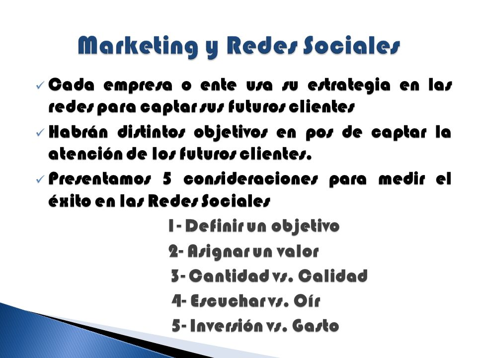 Marketing y Redes Sociales