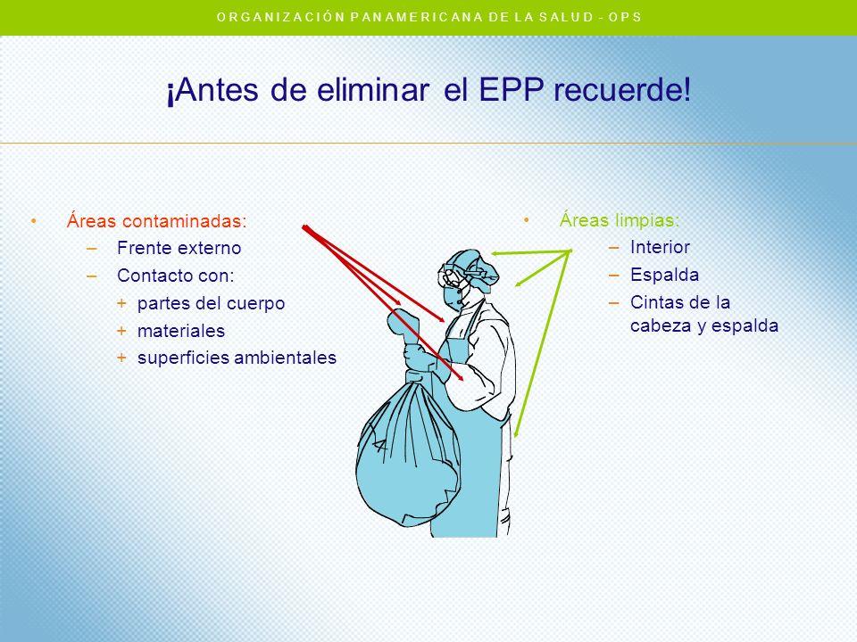 ¡Antes de eliminar el EPP recuerde!