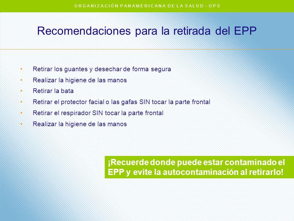 Recomendaciones para la retirada del EPP
