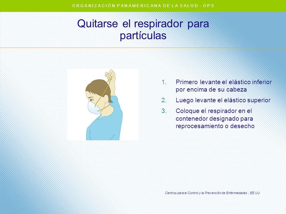 Quitarse el respirador para partículas