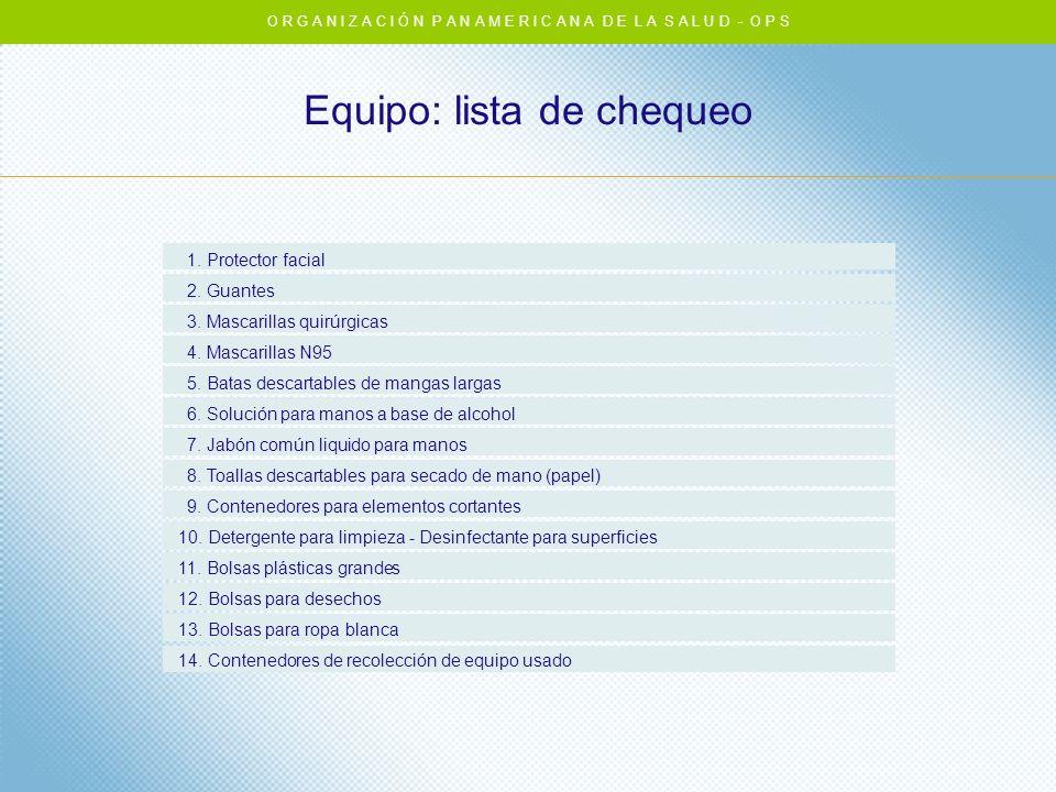 Equipo: lista de chequeo