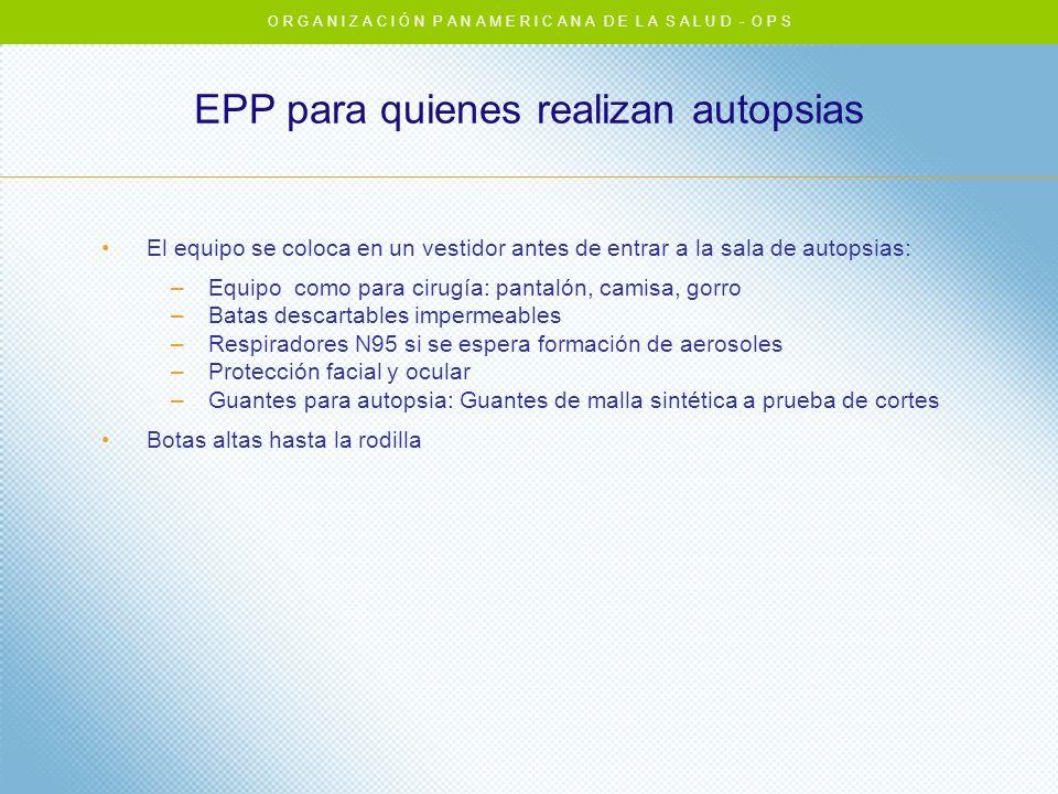 EPP para quienes realizan autopsias