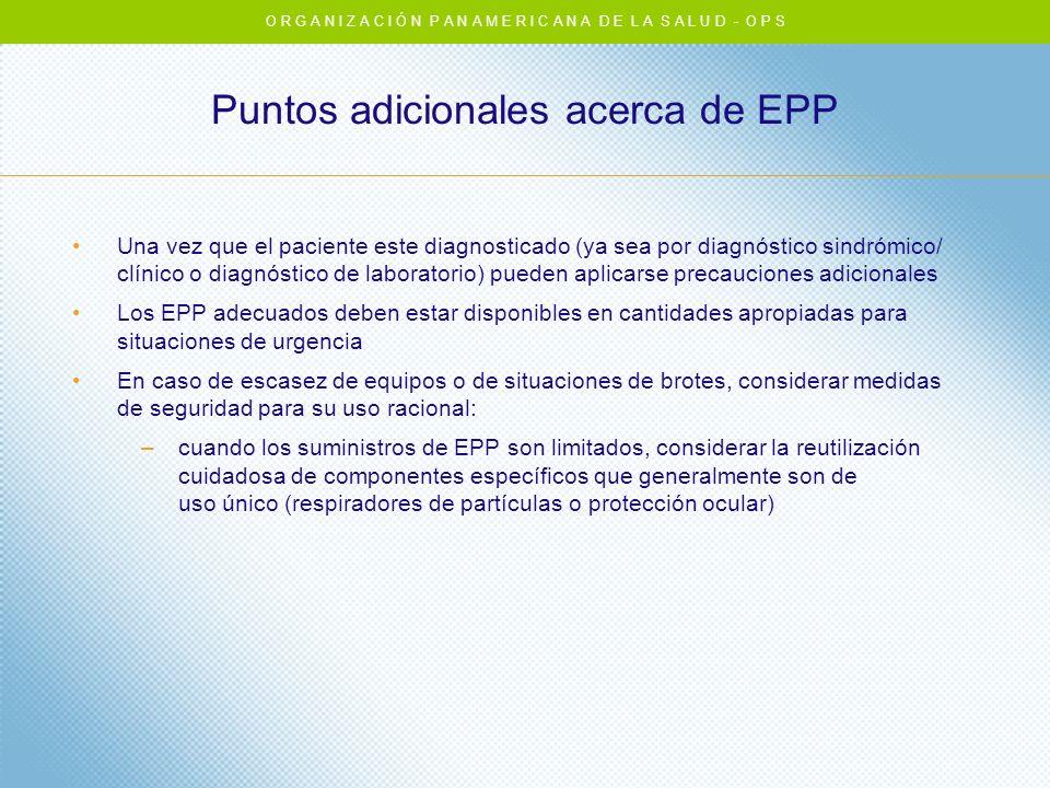Puntos adicionales acerca de EPP