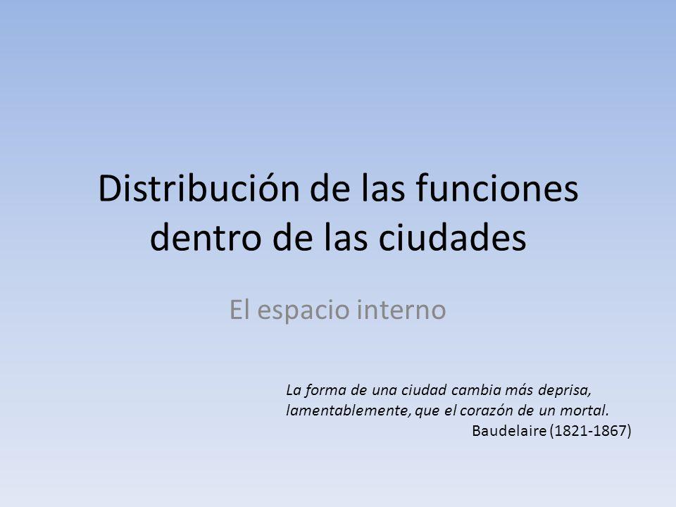 Distribución de las funciones dentro de las ciudades