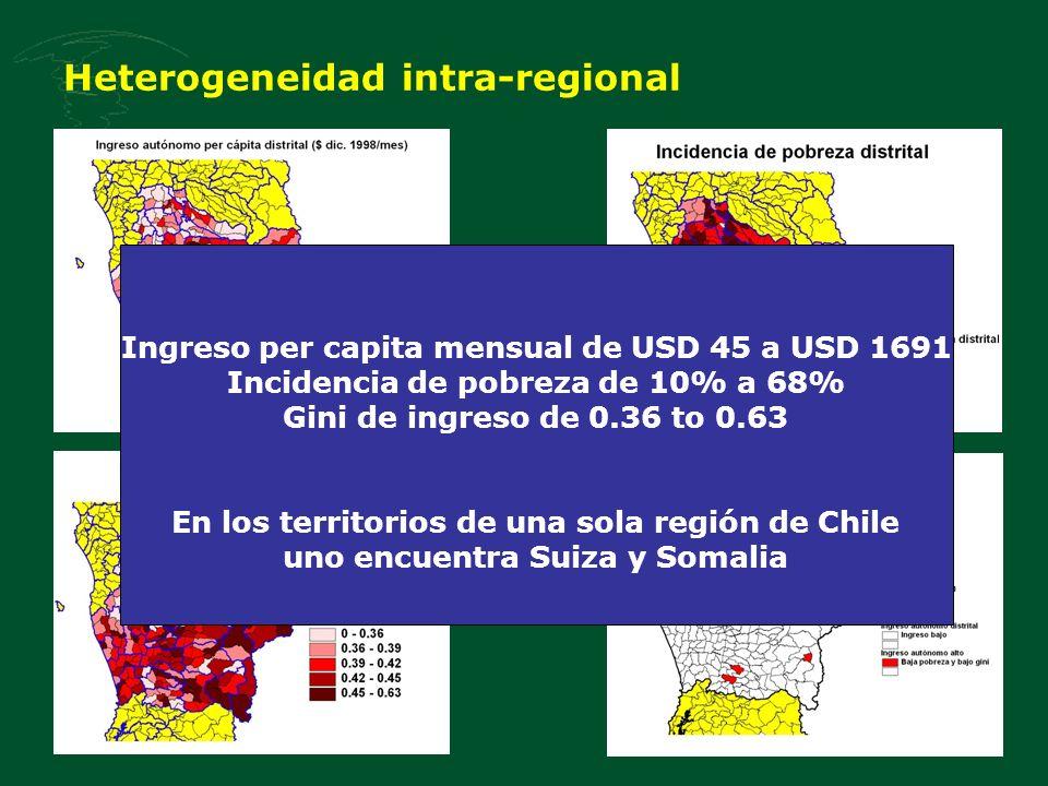 Heterogeneidad intra-regional