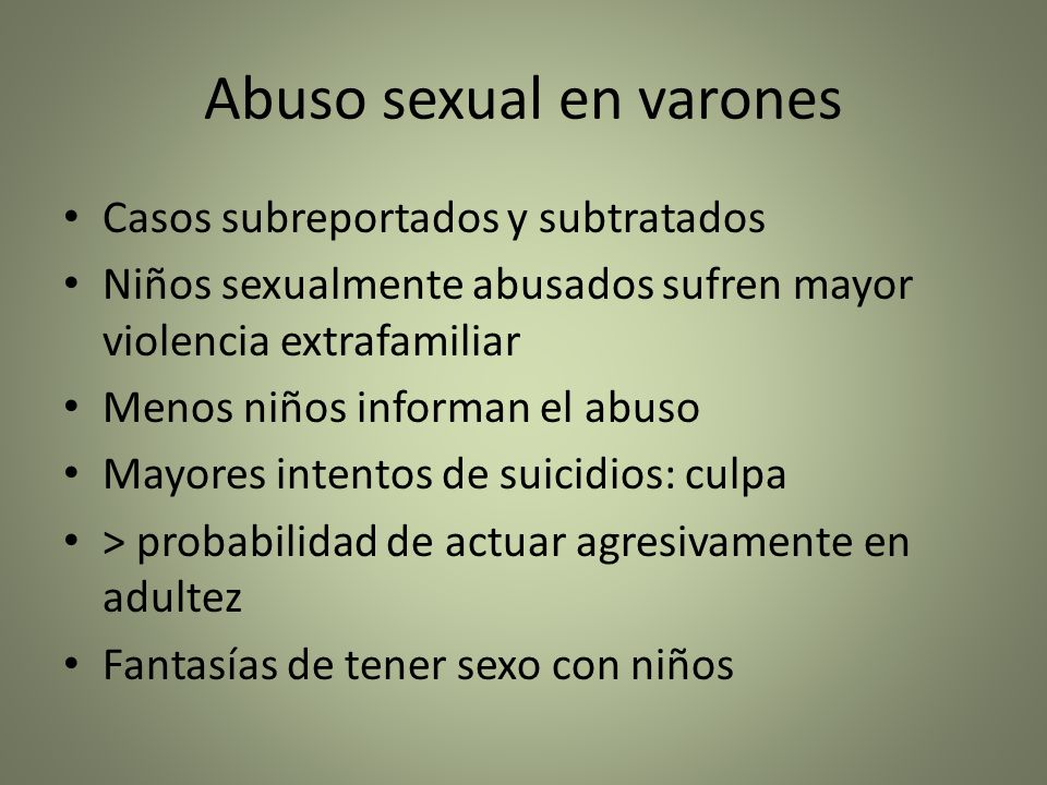 Abuso sexual en varones